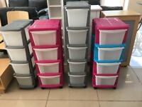 Choice Of Brand New Very good quality 4 and 5 Drawer Storage Towers
