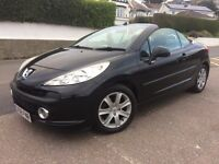 2008 Peugout 207cc 1.6 16v Sport Convertible Only 19500 MILES with 1 owner in unmarked black