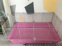 Pink rabbit cage . 4 months old