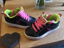 Girls size 12 heeley style trainers