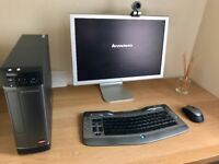 AMD Quad core Desktop, Apple monitor and printer