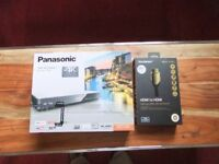 """""""Mint in box"""" Panasonic Blu-ray Disc Player and HCMI cable with ethernet"""