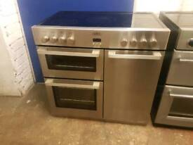 BELLING ELECTRIC RANGE COOKER 90CM WIDTH STAINLESS STEEL COLOUR