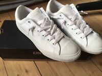 White Leather Converse in the Box Size 5.5 -Only Used Once