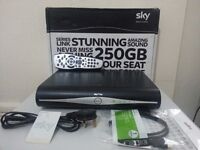SKY PLUS HD WIFI BOX WITH REMOTE , POWER LEAD,FREE VIEWING CARD & BRAND NEW HDMI