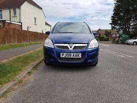 Vauxhall Zafira 1.6 i 16v Exclusiv 5dr £3,295 p/x welcome 2008 (08 reg), MPV