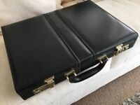 Slim and stylish executive, leather briefcase – excellent condition. Unused. Bargain