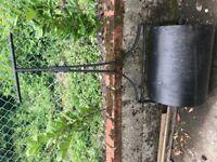 Cast iron antique lawn roller