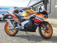 2013 Honda CBR 125 R-D - £2599. Learner Legal with 12,140 miles on clock. Finance subject to status