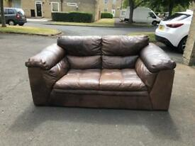 2 seater DFS Leon espresso sofa excellent condition