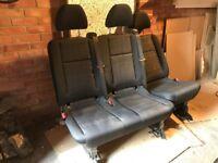 Rear Seats for New Vito 2016, black cloth, unused, £1500