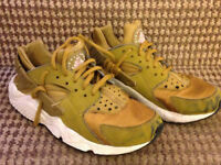 Kids Nike Air Huarache Run Gold/yellow Size 4uk
