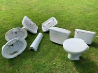 Sinks, toilet, cisterns, bathroom ceramics, recessed sink, pedestal sink