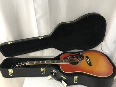 Epiphone Hummingbird PRO Acoustic-Electric Guitar Faded Cherry & HSC *ISSUE