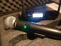 Shure GLXD4 Wireless Receiver + Shure BETA 58A Microphone in case. Excellent condition