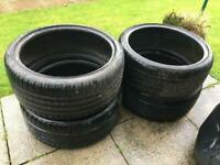 "4x 20"" Tyres - Lots of tread - 255/35 R20 & 225/35 R20"