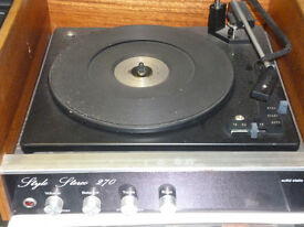 Style Stereo 270 Solid State Turntable Record Player VINTAGE