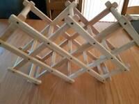 8-10 folding wine bottle rack
