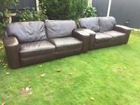 Stunning pair of Dfs soft leather 3&2 seater sofas can deliver