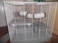 Pet Cage for small animals, suitable for rats or degus with extras