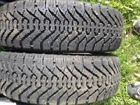 "Set Of 2 - Goodyear Nordic Winter Tires P175/65r 14"" - $40 each"