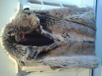 Faux fur gillet size medium