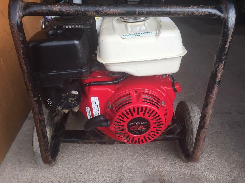 Honda Generator 110volts 5kva | in Lanark, South Lanarkshire | Gumtree