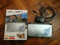 The *New* Nintendo 3DS XL Monster Hunter 4U Special Edition & Charger