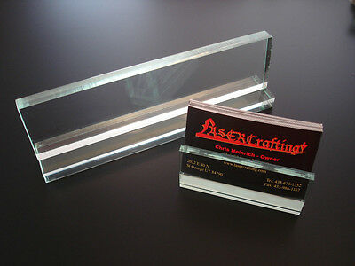 - DESK NAME PLATE sold blank/wholesale to engravers-(engraved option) +card holder