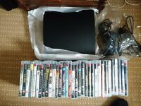 Ps3 320 gb,, 1 controller, 3m charging cable, 33 games