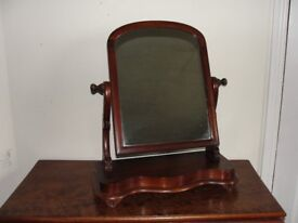 Victorian/Edwardian mahogany swing dressing table mirror.