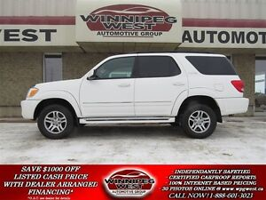 2007 Toyota Sequoia LIMITED V8 4X4, LEATHER, SUNROOF, 7 PASS, LO