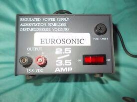EUROSONIC TRANSFORMER FOR HOMEBASE RADIO ETC. 240V DOWN TO 13.4 V