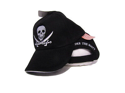 Black Calico Jack Rackham Surrender The Booty Pirate Baseball Cap Hat (RUF)