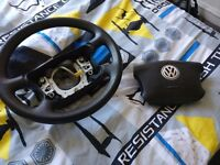 Bora / Golf MK4 Steering Wheel with Airbag, good condition, fully working
