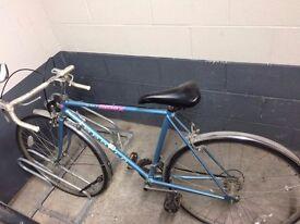 Blue vintage road bike