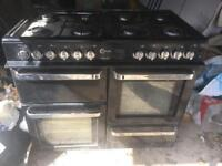 Flavel range cooker with double over, grill, storage & 8 mixed size burners