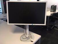 12 x NEC MultiSync EX201W desktop screen in white