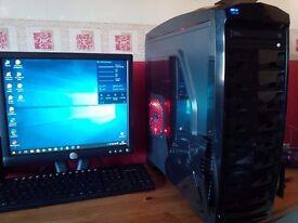 Gaming PC - Windows 10 Pro, 128gb SSD, 1000gb HDD, 3ghz i5-2320 Quad CPU, 8gb DDR3, AMD R7 240 4gb