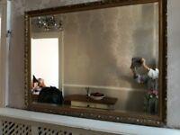 Very large gilt frame mirror.