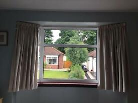 Laura Ashley, blackout curtains, fawn