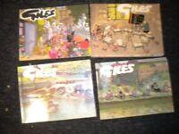 4 OLD GILES COMIC BOOKS