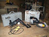 AEG hammer drill & jigsaw