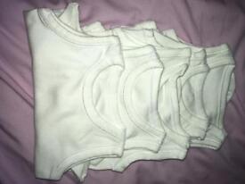 5x newborn sleeveless vests