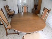 ERCOL - CHESTER Twin Pedestal Dining Table in Showroom Condition.