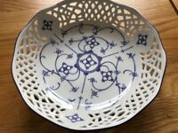 Beautiful Blue and White dish, fine German Porcelain