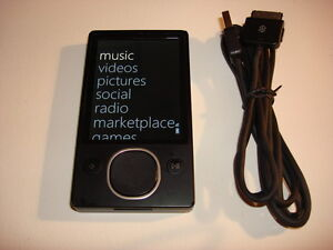 MICROSOFT  ZUNE  BLACK  120GB...NEW HARD DRIVE...