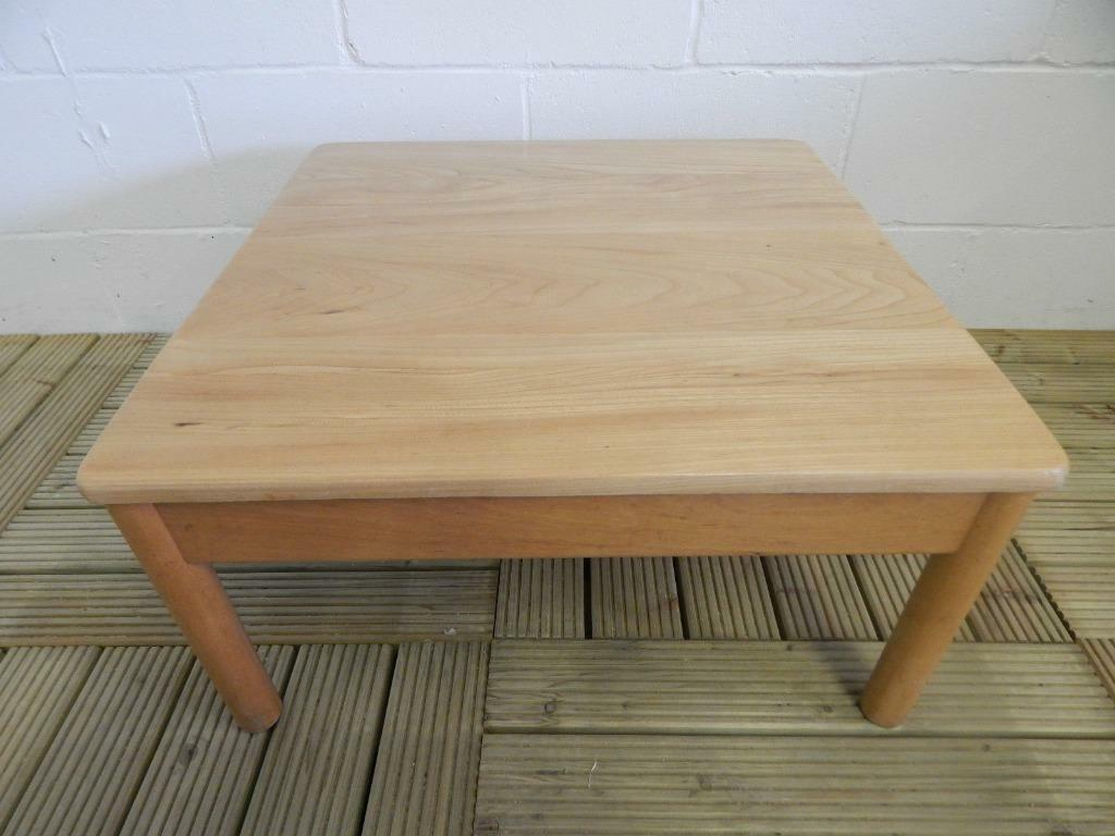Retro ercol blonde square coffee table in norwich for Coffee tables norwich