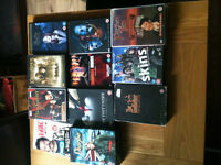 Various dvd box sets including six feet under ,sharpe, father ted, e.t.c