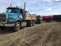 Ford gravel truck with pup